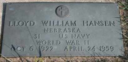 HANSEN, LLOYD WILLIAM - Cedar County, Nebraska | LLOYD WILLIAM HANSEN - Nebraska Gravestone Photos