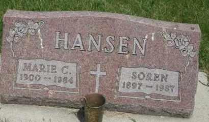 HANSEN, SOREN - Cedar County, Nebraska | SOREN HANSEN - Nebraska Gravestone Photos