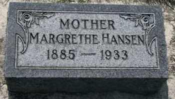 HANSEN, MARGRETHE - Cedar County, Nebraska | MARGRETHE HANSEN - Nebraska Gravestone Photos