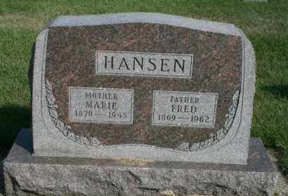 HANSEN, FRED - Cedar County, Nebraska   FRED HANSEN - Nebraska Gravestone Photos
