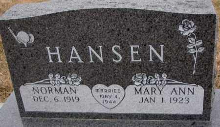 HANSEN, MARY ANN - Cedar County, Nebraska | MARY ANN HANSEN - Nebraska Gravestone Photos