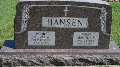 HANSEN, MAGNUS V - Cedar County, Nebraska   MAGNUS V HANSEN - Nebraska Gravestone Photos