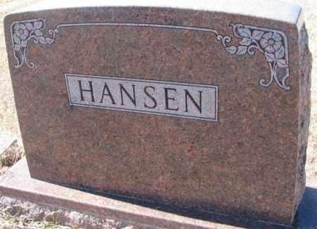 HANSEN, PLOT - Cedar County, Nebraska | PLOT HANSEN - Nebraska Gravestone Photos