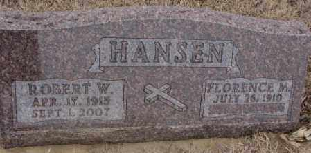 HANSEN, FLORENCE M. - Cedar County, Nebraska   FLORENCE M. HANSEN - Nebraska Gravestone Photos