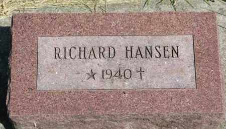 HANSEN, RICHARD - Cedar County, Nebraska | RICHARD HANSEN - Nebraska Gravestone Photos