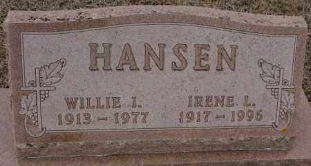 HANSEN, WILLIE I. - Cedar County, Nebraska | WILLIE I. HANSEN - Nebraska Gravestone Photos