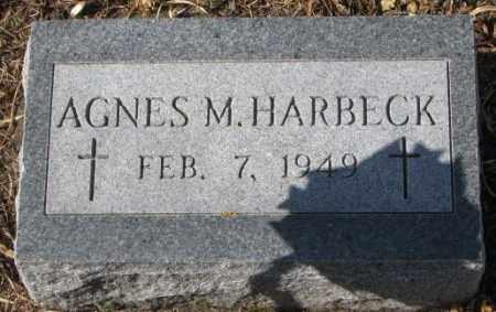 HARBECK, AGNES M. - Cedar County, Nebraska | AGNES M. HARBECK - Nebraska Gravestone Photos