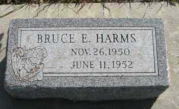 HARMS, BRUCE E. - Cedar County, Nebraska | BRUCE E. HARMS - Nebraska Gravestone Photos