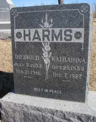 HARMS, KATHARINA - Cedar County, Nebraska | KATHARINA HARMS - Nebraska Gravestone Photos
