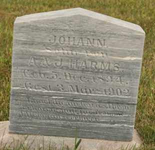 HARMS, JOHANN - Cedar County, Nebraska | JOHANN HARMS - Nebraska Gravestone Photos