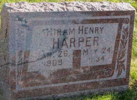 HARPER, HIRAM HENRY - Cedar County, Nebraska | HIRAM HENRY HARPER - Nebraska Gravestone Photos