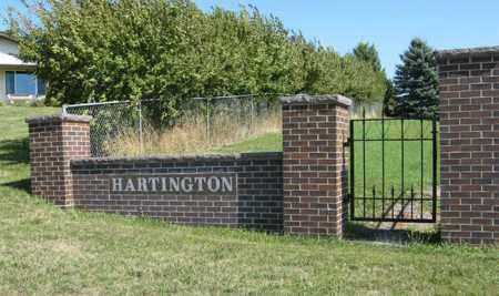 *HARTINGTON CEMETERY, ENTRANCE - Cedar County, Nebraska | ENTRANCE *HARTINGTON CEMETERY - Nebraska Gravestone Photos