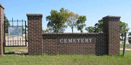 *HARTINGTON CEMETERY, ENTRANCE - Cedar County, Nebraska   ENTRANCE *HARTINGTON CEMETERY - Nebraska Gravestone Photos