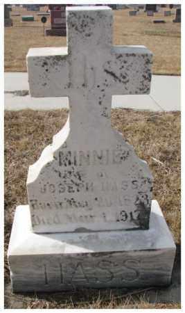 HASS, MINNIE - Cedar County, Nebraska   MINNIE HASS - Nebraska Gravestone Photos
