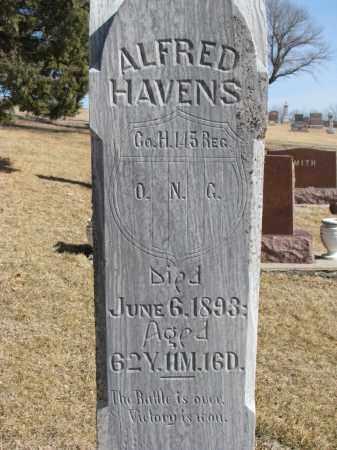 HAVENS, ALFRED (CLOSEUP) - Cedar County, Nebraska | ALFRED (CLOSEUP) HAVENS - Nebraska Gravestone Photos