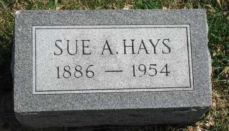 HAYS, SUE A. - Cedar County, Nebraska   SUE A. HAYS - Nebraska Gravestone Photos