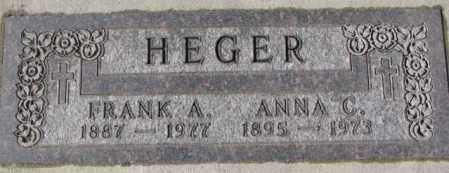 HEGER, FRANK A. - Cedar County, Nebraska | FRANK A. HEGER - Nebraska Gravestone Photos