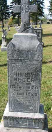 HEGER, HENRY - Cedar County, Nebraska   HENRY HEGER - Nebraska Gravestone Photos