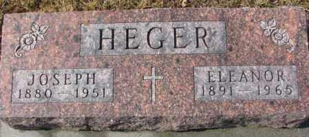 HEGER, ELEANOR - Cedar County, Nebraska | ELEANOR HEGER - Nebraska Gravestone Photos
