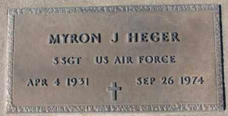 HEGER, MYRON J. (MILITARY) - Cedar County, Nebraska | MYRON J. (MILITARY) HEGER - Nebraska Gravestone Photos