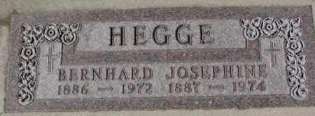 HEGGE, JOSEPHINE - Cedar County, Nebraska | JOSEPHINE HEGGE - Nebraska Gravestone Photos
