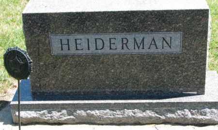 HEIDERMAN, PLOT - Cedar County, Nebraska | PLOT HEIDERMAN - Nebraska Gravestone Photos