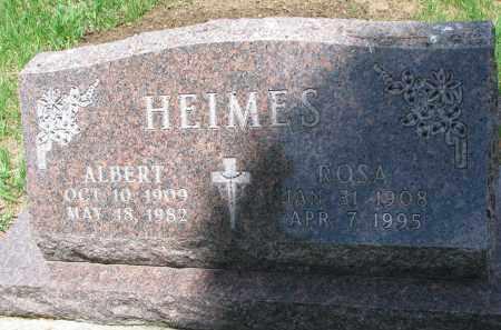 HEIMES, ALBERT - Cedar County, Nebraska | ALBERT HEIMES - Nebraska Gravestone Photos