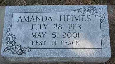 HEIMES, AMANDA - Cedar County, Nebraska | AMANDA HEIMES - Nebraska Gravestone Photos