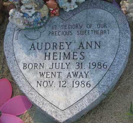 HEIMES, AUDREY ANN - Cedar County, Nebraska | AUDREY ANN HEIMES - Nebraska Gravestone Photos
