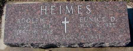 HEIMES, ADOLPH J. - Cedar County, Nebraska | ADOLPH J. HEIMES - Nebraska Gravestone Photos