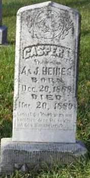HEIMES, CASPER L - Cedar County, Nebraska   CASPER L HEIMES - Nebraska Gravestone Photos