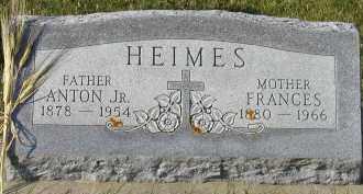 HEIMES, FRANCES - Cedar County, Nebraska   FRANCES HEIMES - Nebraska Gravestone Photos