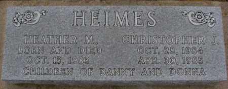 HEIMES, CHRISTOPHER J. - Cedar County, Nebraska | CHRISTOPHER J. HEIMES - Nebraska Gravestone Photos