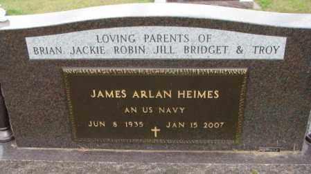 HEIMES, JAMES ARLAN (MILITARY) - Cedar County, Nebraska | JAMES ARLAN (MILITARY) HEIMES - Nebraska Gravestone Photos