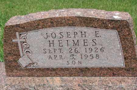 HEIMES, JOSEPH E. - Cedar County, Nebraska | JOSEPH E. HEIMES - Nebraska Gravestone Photos