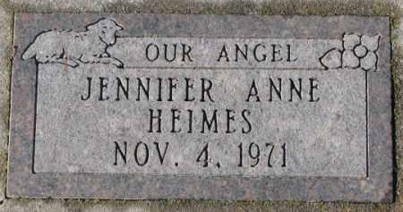 HEIMES, JENNIFER ANNE - Cedar County, Nebraska | JENNIFER ANNE HEIMES - Nebraska Gravestone Photos