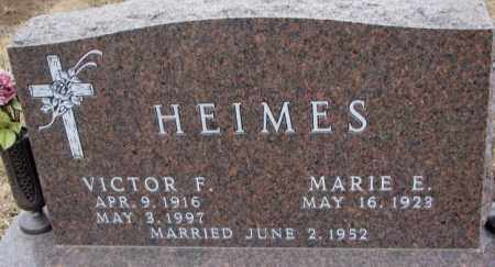 HEIMES, MARIE E. - Cedar County, Nebraska | MARIE E. HEIMES - Nebraska Gravestone Photos