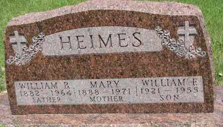 HEIMES, WILLIAM B. - Cedar County, Nebraska | WILLIAM B. HEIMES - Nebraska Gravestone Photos