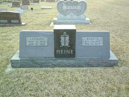 HEINE, MARY - Cedar County, Nebraska | MARY HEINE - Nebraska Gravestone Photos