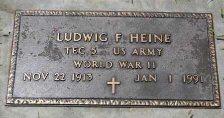 HEINE, LUDWIG F. (WW II) - Cedar County, Nebraska   LUDWIG F. (WW II) HEINE - Nebraska Gravestone Photos