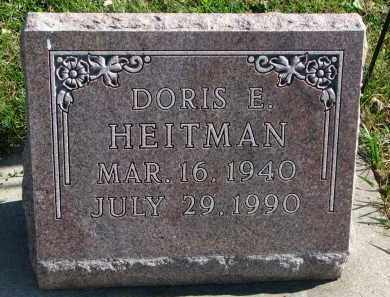 HEITMAN, DORIS E. - Cedar County, Nebraska | DORIS E. HEITMAN - Nebraska Gravestone Photos