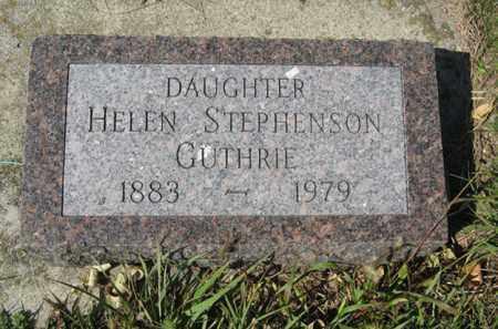 HELEN, GUTHRIE - Cedar County, Nebraska | GUTHRIE HELEN - Nebraska Gravestone Photos