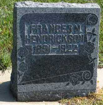 HENDRICKSON, FRANCES M. - Cedar County, Nebraska | FRANCES M. HENDRICKSON - Nebraska Gravestone Photos