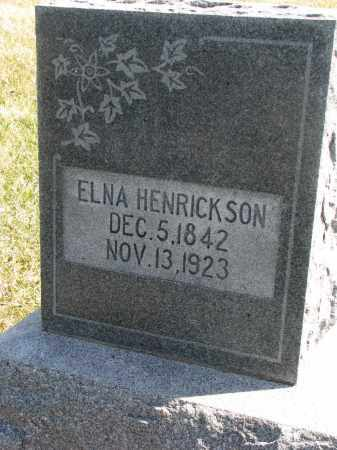 HENRICKSON, ELNA - Cedar County, Nebraska | ELNA HENRICKSON - Nebraska Gravestone Photos
