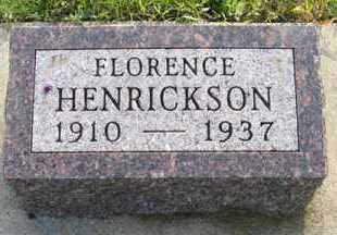 HENRICKSON, FLORENCE - Cedar County, Nebraska | FLORENCE HENRICKSON - Nebraska Gravestone Photos