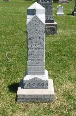 HENRICKSON, HENRIETTA - Cedar County, Nebraska | HENRIETTA HENRICKSON - Nebraska Gravestone Photos