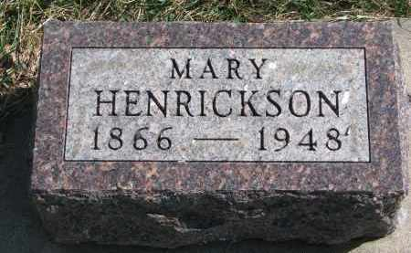 HENRICKSON, MARY - Cedar County, Nebraska | MARY HENRICKSON - Nebraska Gravestone Photos