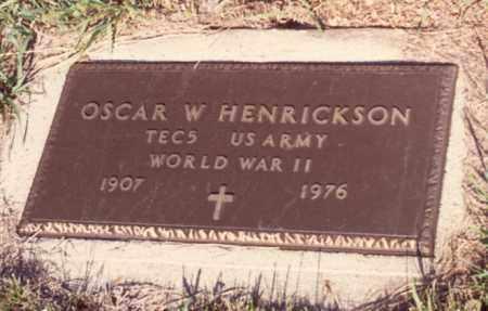 HENRICKSON, OSCAR W. (MILITARY MARKER) - Cedar County, Nebraska | OSCAR W. (MILITARY MARKER) HENRICKSON - Nebraska Gravestone Photos