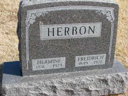 HERBON, HERMINE - Cedar County, Nebraska | HERMINE HERBON - Nebraska Gravestone Photos