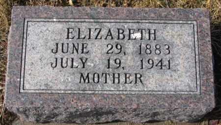 HERFKENS, ELIZABETH - Cedar County, Nebraska | ELIZABETH HERFKENS - Nebraska Gravestone Photos
